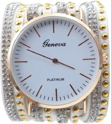 Geneva Platinum Without Seconds Movement Wrap Around Analog Watch  - For Women, Girls