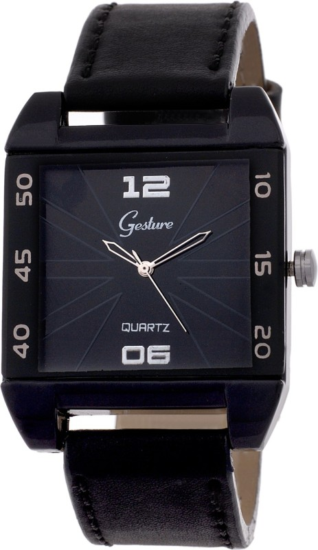 Gesture 5059 BK Modest Analog Watch For Men