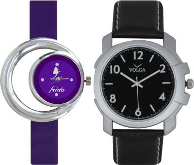 Frida Designer VOLGA Beautiful New Branded Type Watches Men and Women Combo140 VOLGA Band Analog Watch  - For Couple