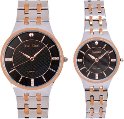 Faleda P6168TTB Standred Analog Watch  - For Couple