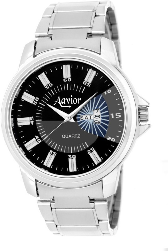 Aavior Fashion Black AA213 Day and Date Analog Watch For Men