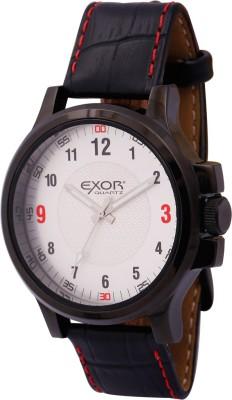 Exor Black Case Genuine Leather Analog Watch  - For Men