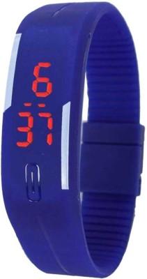Furst LED Rubber Magnet Blue Color Digital Watch  - For Boys, Men, Girls, Women