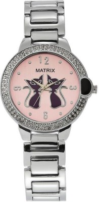Matrix WCH-CT-PK-3BK Cutie Analog Watch  - For Girls, Women