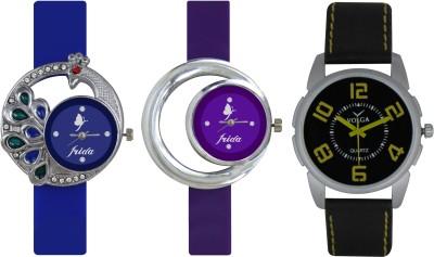 Frida Designer VOLGA Beautiful New Branded Type Watches Men and Women Combo463 VOLGA Band Analog Watch  - For Couple