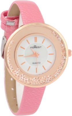 Forest Addic Stylish Rolling Diamonds Baby Pink (31) Analog Watch  - For Women