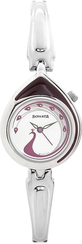 Sonata 8119SM02C Analog Watch For Women