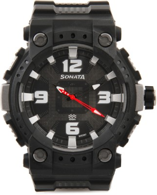 Sonata NH77014PP01CJ Ocean Analog Watch  - For Men