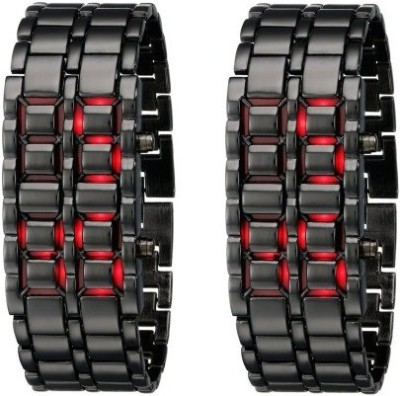 Shoppingekart CW3302 Pack of 2 Chain LED Digital Watch    For Men available at Flipkart for Rs.499