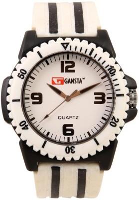 Gansta GT104-2-Wht-Blk Analog Watch  - For Men, Women, Boys, Girls