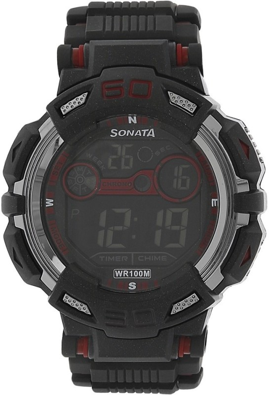 Sonata NH77009PP01J Digital Watch For Men