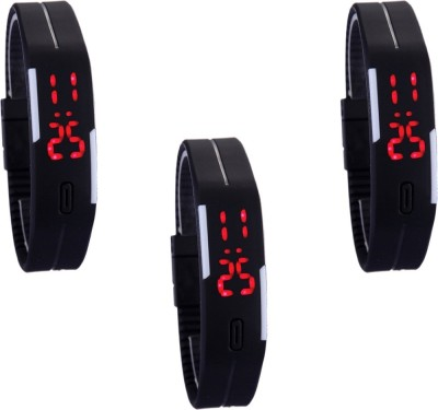 vency creation Led Black Combo3 Digital Watch  - For Boys