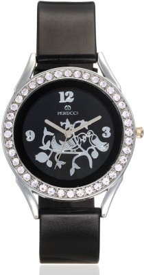 Perucci PC-2222Black Advika Analog Watch  - For Women