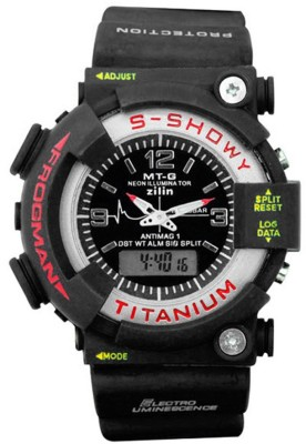 Nri Collection t blk 2t Dual Time Analog-Digital Watch  - For Boys, Men