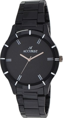 Accurist ACLW019 Black Elegant Stainless Steel Analog Watch  - For Men, Boys