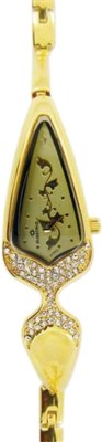 Maxima 21980BMLY Gold Analog Watch - For Women
