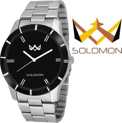 Solomon USSLVRBLKDRONE01 Analog Watch  - For Men, Boys
