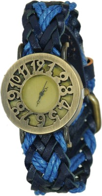 COSMIC COSMIC LEATHER LIGHT&DARK BLUE STRAP ANALOG UNISEX WATCH Analog Watch - For Women