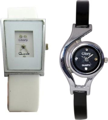 Pahel Glory Black & White Analog Watch  - For Girls