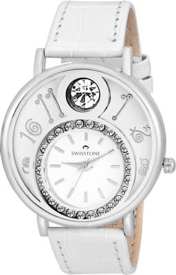 Swisstone VOGLR321-WHT Analog Watch  - For Women, Girls