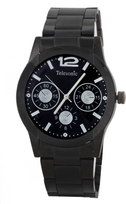 Telesonic GCBK06BLACK Platinum Time Analog Watch  - For Men