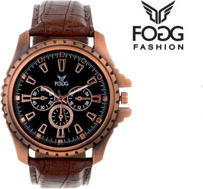Fogg Fashion Store 8018-BK-BR-CK Tag Price Stylish Modish Analog Watch  - For Men, Boys