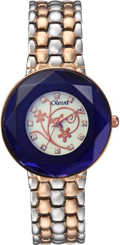 Oleva OMW 12 BLUE WHITE Analog Watch For Women