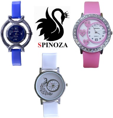 SPINOZA glory black blue pink stylish beautiful pack of 3 watches for girls Analog Watch  - For Women