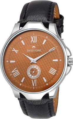 SWISSTONE GR022-BRW-BLK Analog Watch  - For Men, Boys