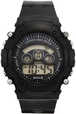 Hari Krishna Enterprise 2hk 7Light Black Digital Watch  - For Boys, Men