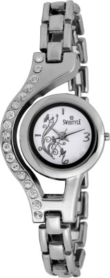 Swisstyle SS-LR100-WHT-CH Bejewel Analog Watch  - For Women