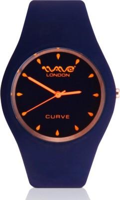 Wave London Wave London Curve Blue & Orange Watch (Wl-Cur-Bo) Curve Analog Watch  - For Women