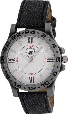 Pittsburgh Polo Club PBPC-502-WHT Analog Watch  - For Men