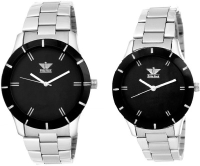Swiss Rock Black Royal Analog Watch  - For Couple