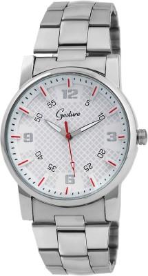 Gesture Gesture Elegant 6008-Wh Watch For Men Elegant Analog Watch  - For Men