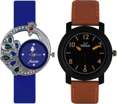 Frida Designer VOLGA Beautiful New Branded Type Watches Men and Women Combo50 VOLGA Band Analog Watch  - For Couple