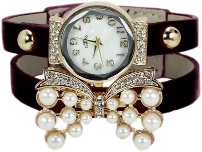 KMS Yilisha_Diamond_Butterfly_Black Analog Watch  - For Women, Girls