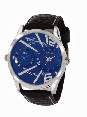 Exotica SXlines EF 80 Dual Blue Analog Watch    For Men available at Flipkart for Rs.499