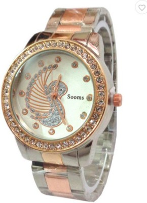 Sooms Sooms Duck Crystal Studded Display Gold Diamonds M115 Analog Watch  - For Women