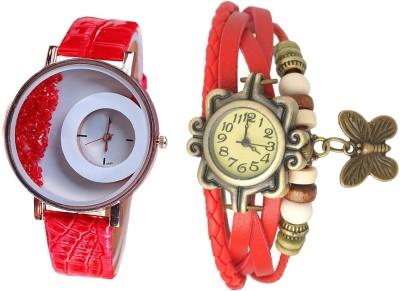 suhagiya 6654 RED Analog Watch  - For Girls, Women
