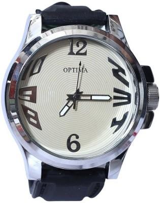 Optima OFT0005-PU Fashion Track Analog Watch  - For Men, Boys