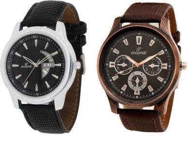 Dezine DAY AND DATE COMBO-GR1010BLK-GR401BLK Analog Watch  - For Men