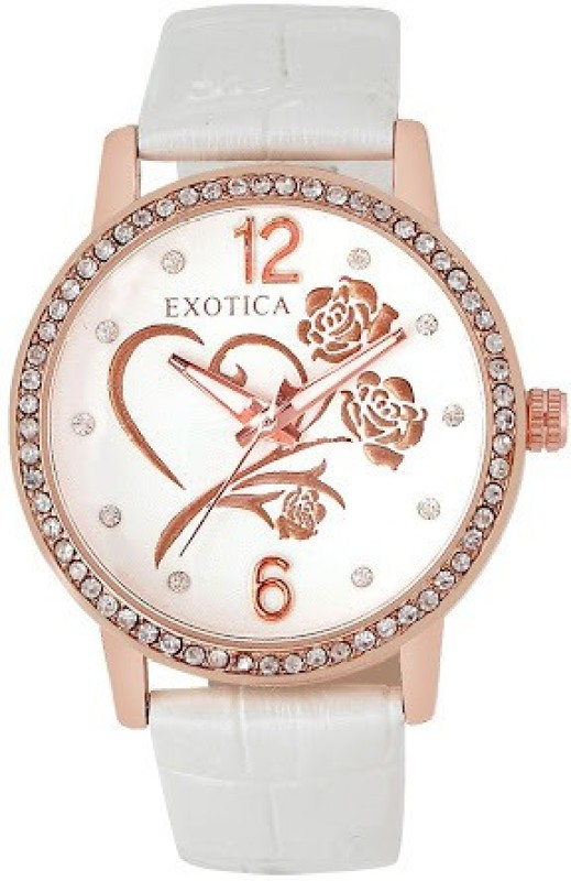 Exotica Fashions EFL 701 White Basic Analog Watch For Women