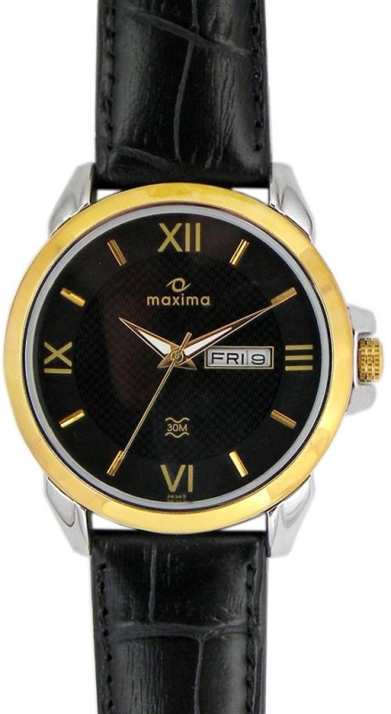 Maxima 26343LMGT Gold Analog Watch For Men