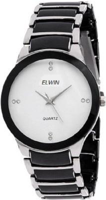 ELWIN black steel doom eleganza Analog Watch  - For Men