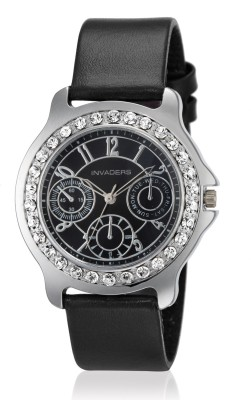 Invaders Chrono Look Black Analog Watch  - For Women