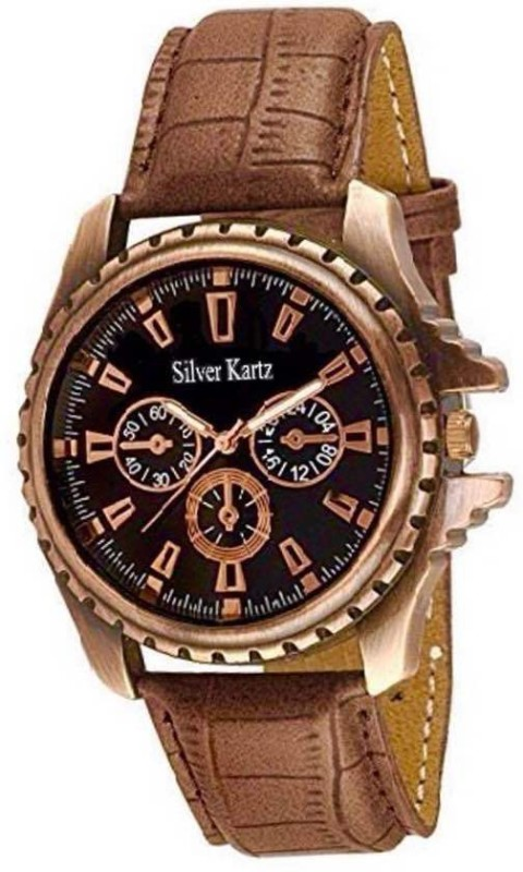 Silver Kartz Diplomatic Chronograph Pattern Decker Analog Watch