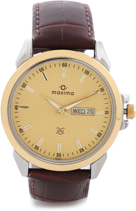 Maxima 26344LMGT Gold Analog Watch For Men