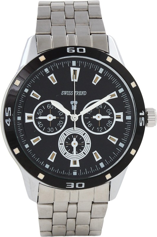 Swiss Trend Artshai1619 Sleek Black Analog Watch For Men
