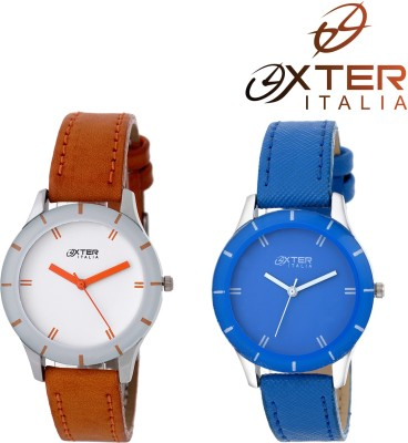 OXTER Dazzle Mustare and Excellect Blue Beautiful Unique Collection Analog Watch  - For Women